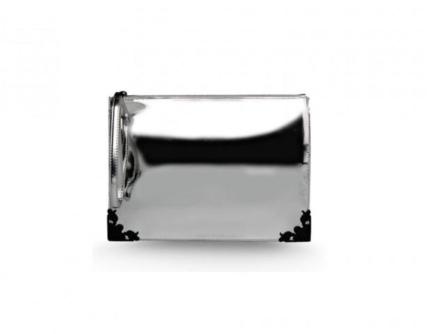 Clutch silver rigida
