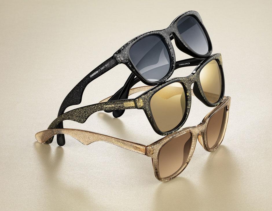 Glitter, animalier, dettagli oro: ecco gli occhiali Carrera by Jimmy Choo
