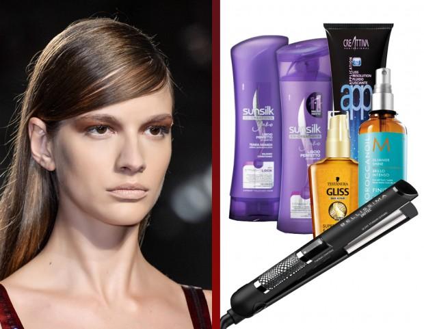 Trattamento per rendere i capelli lisci
