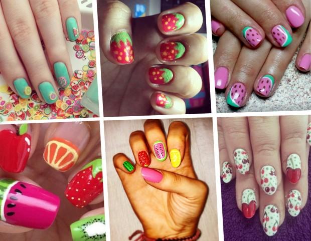 Nail art tutti frutti