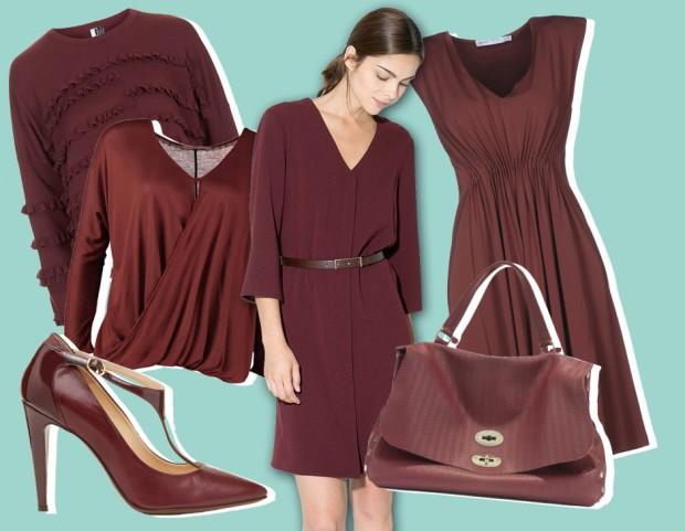 """cddffe7986ae Il """"Marsala"""" è il colore Pantone del 2015. Scopri i capi e gli accessori  più trendy (collage di Elena Bortot)"""