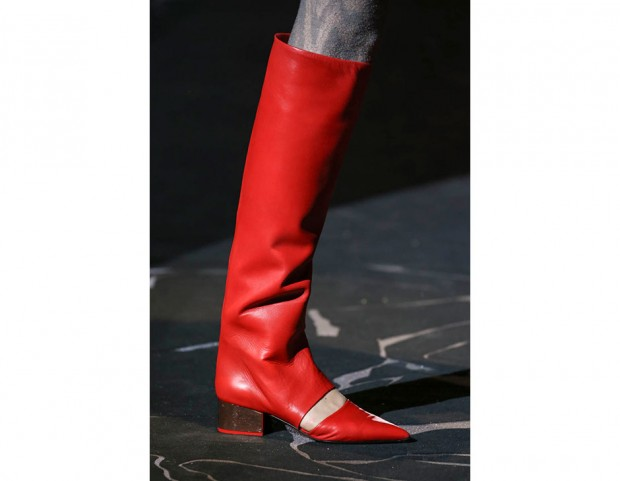 03ea0ae82086a Gli stivali rossi con dettaglio cut-out di Missoni (Mondadori Photo)