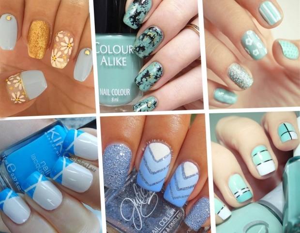 Smalti azzurri le manicure da Pinterest e Instagram