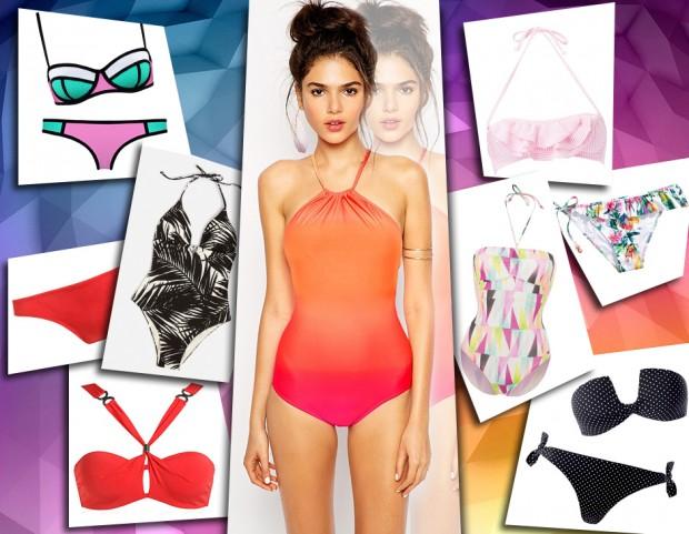 3f40ae43c6 Costumi da bagno: bikini, interi e trikini per un'estate super trendy!  (collage di Antonella Acquafredda)