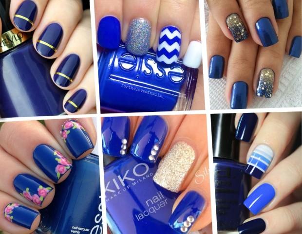 Unghie le nail art blu più belle da Pinterest