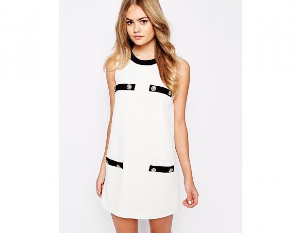 Mini dress bicolor