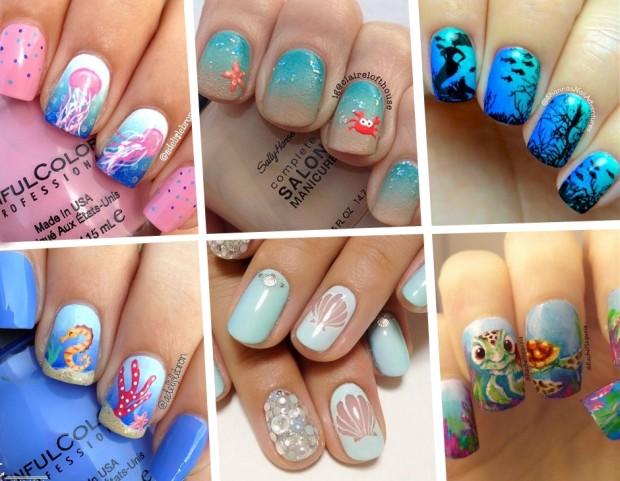 Unghie Le Nail Art Estive A Tema Marino Da Pinterest Tu Style