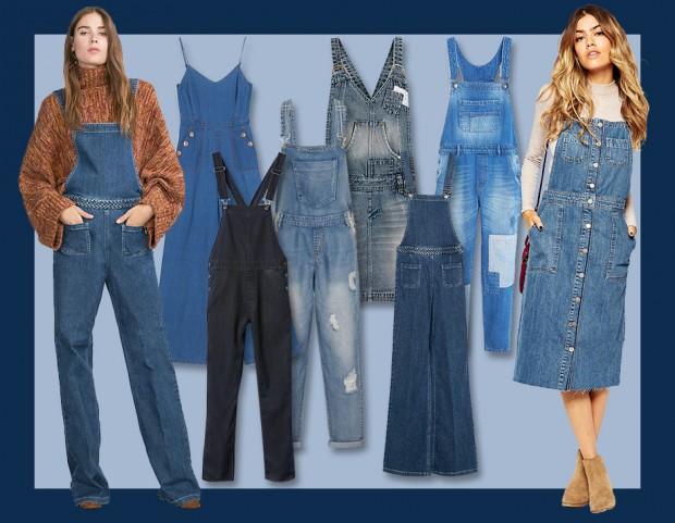 Salopette di jeans  lunghe o corte 38e4018cdbe