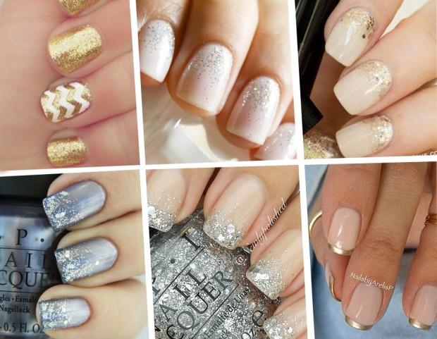 Unghie le manicure oro e argento più belle da Pinterest