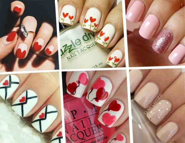 Unghie le nail art romantiche per San Valentino