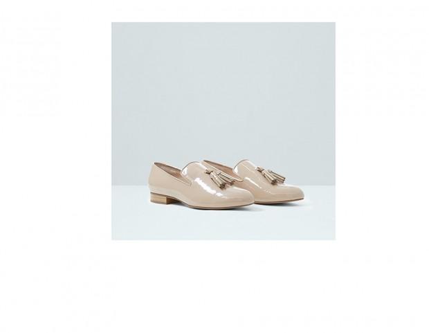 Loafer di vernice con nappe