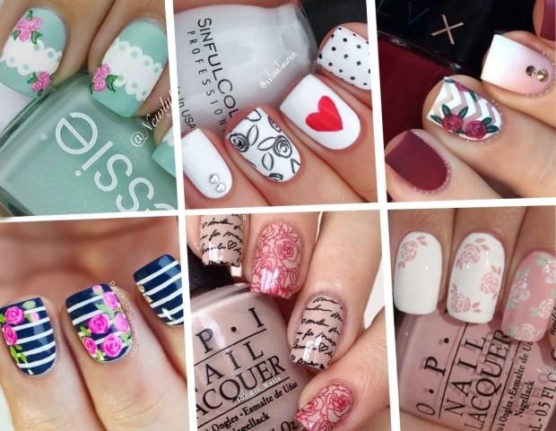 nail art le manicure con rose per la primavera tu style