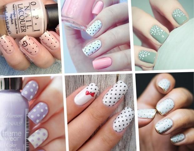 Unghie le nail art a pois più belle del momento