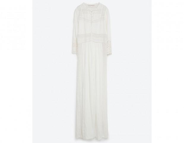 Maxi dress in cotone ricamato