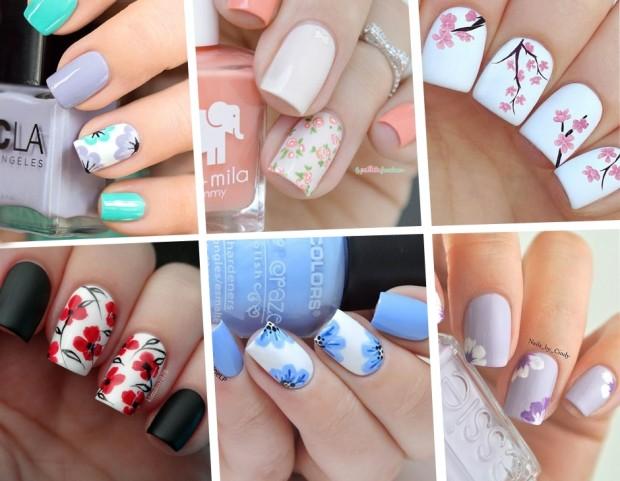 Unghie le nail art floreali più belle della Primavera