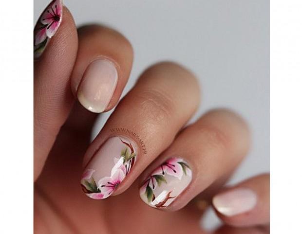 Fiori Unghie.Unghie Le Nail Art Floreali Piu Belle Della Primavera Tu Style