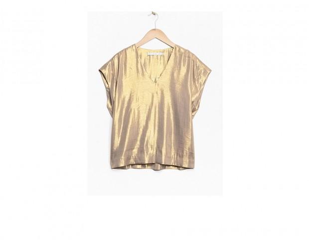 Blusa metallizzata