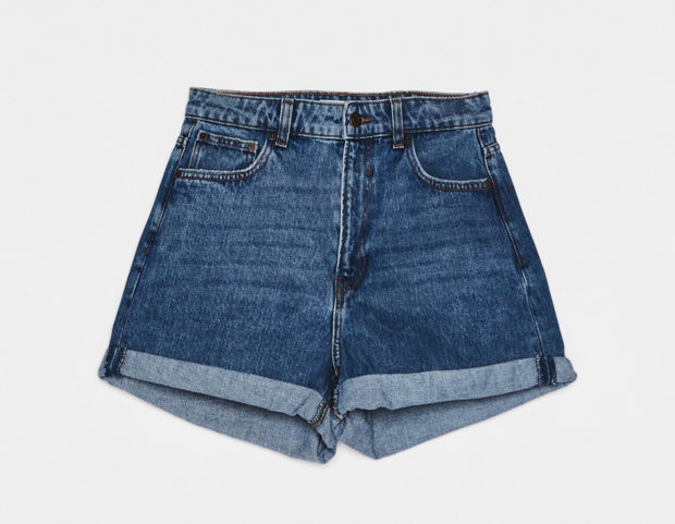 Shorts mom fit high waist