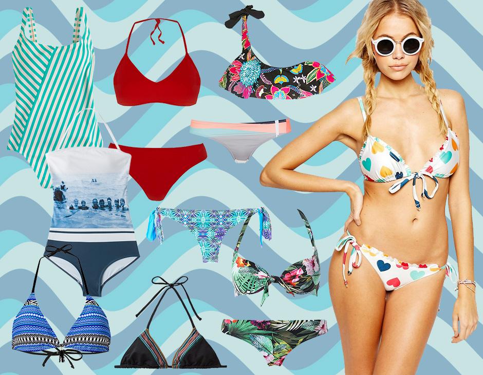 Costume Da Bagno Intero Rosso : Costumi da bagno bikini interi e trikini per l estate tu