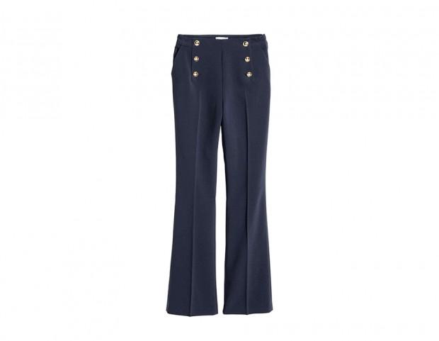 Pantaloni con bottoni dorati