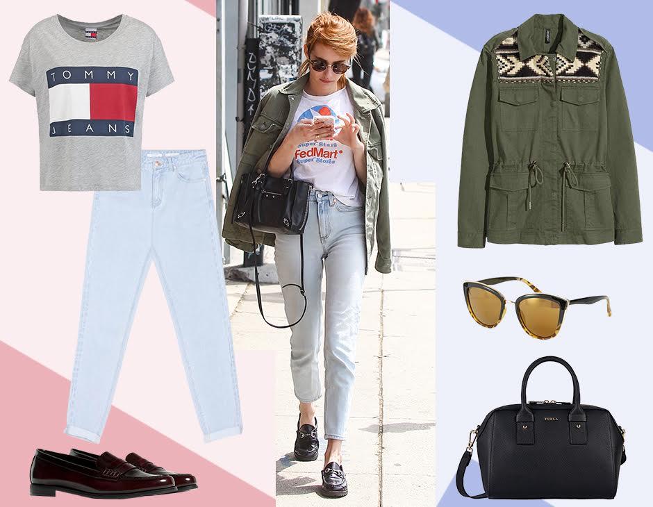 Ti piace mescolare gli stili  fai come Emma Roberts e mixa un paio di  jeans 56d235ffda2e
