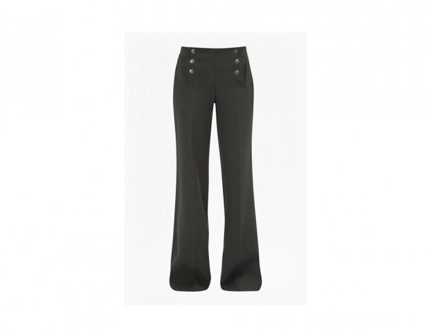 Pantaloni flare con bottoni laterali