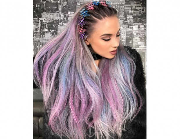 Rainbow hair in colori pastello ed effetto frisé. (Photo credit  Instagram   guy tang 6edf1dc3fd99