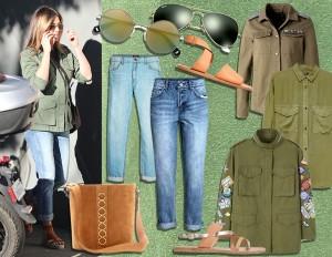 Casual, stile militare e tocchi glam: copia il look di Jennifer Aniston