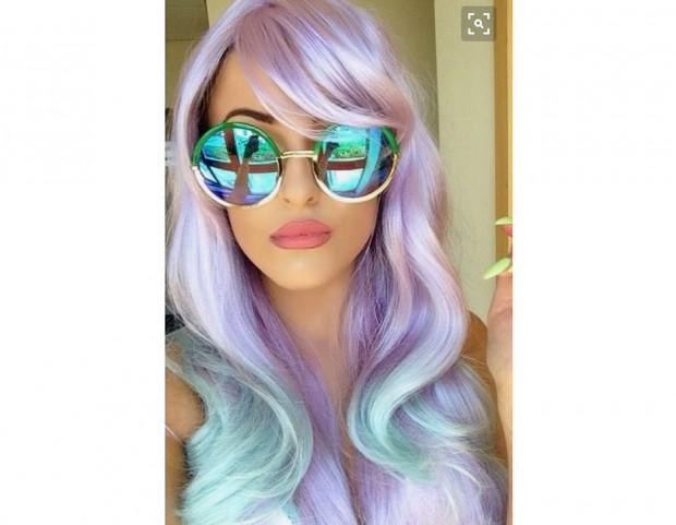 Opal hair con turchese e lilla