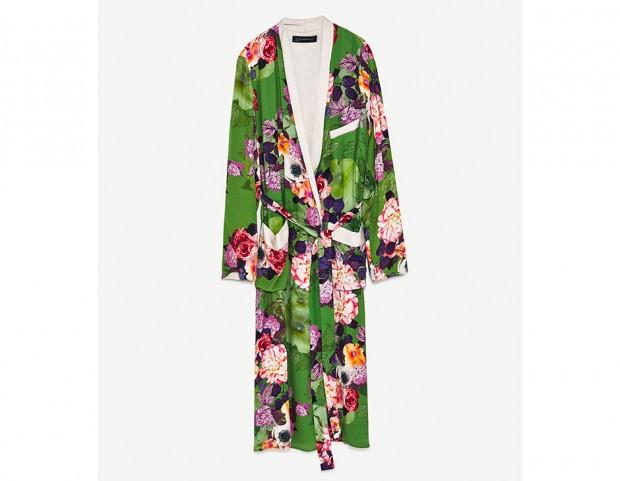 Kimono lungo a fiori