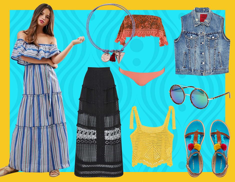 7cea48e24730 Longdress a fiori, fantasie tie-dye, frange, pom pom colorati e tuniche  ricamate: scopri i capi e gli accessori d'ispirazione boho per l'estate!
