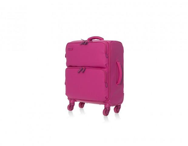 Trolley rosa fucsia