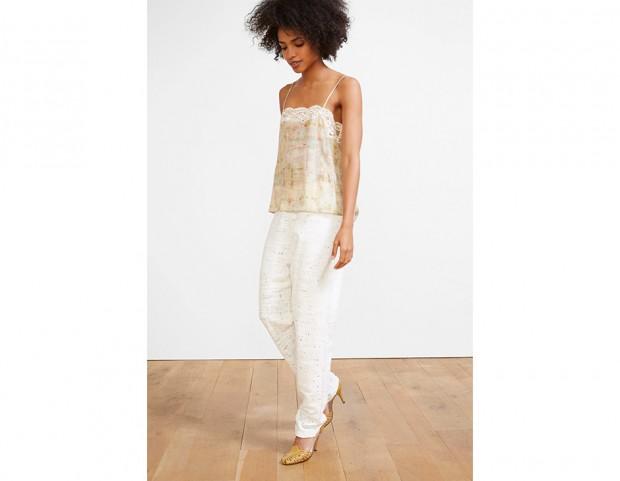 Pantaloni in cotone bianco
