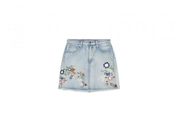 Mini in jeans con ricami