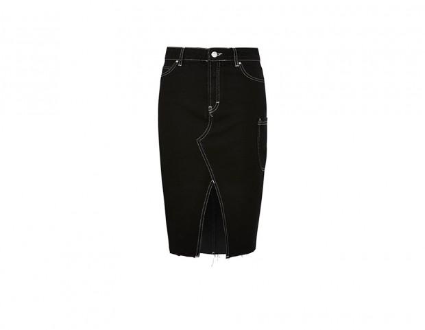 Pencil skirt stretch in denim scuro