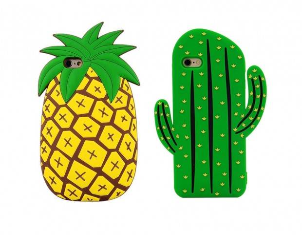Cover in silicone 3D pineapple o cactus per iPhone 6 6S