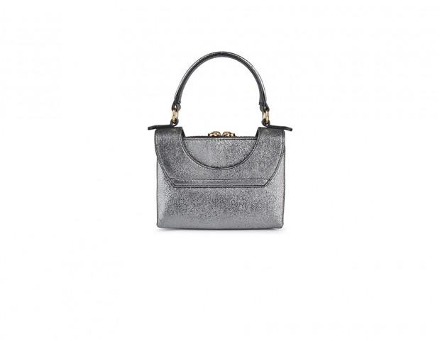 Mini bag silver con borchie