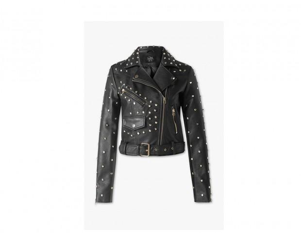 Biker jacket con borchie
