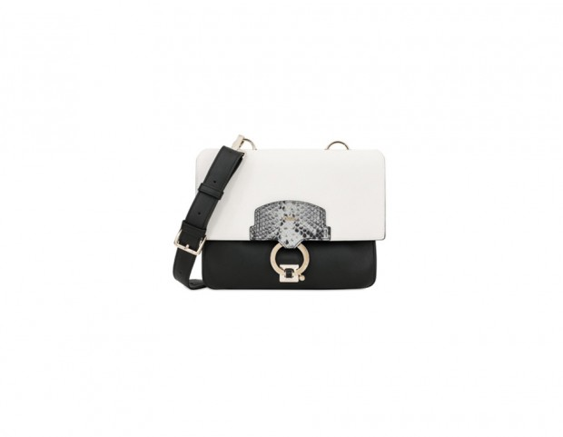 Borsa Scoop in pelle color-block