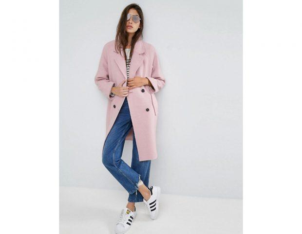 Cappotto corto rosa confetto
