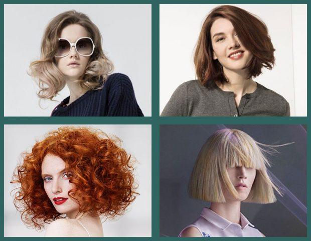 Tutte le tendenze dai saloni per i tagli di capelli medi, sfoglia la gallery e lasciati ispirare! (Photo credit: Wella, Coiff&co, Indola, Davines, collage di Francesca Merlo)