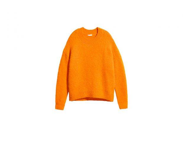 Maxi pull arancio