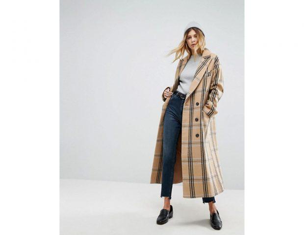 Cappotto in lana check