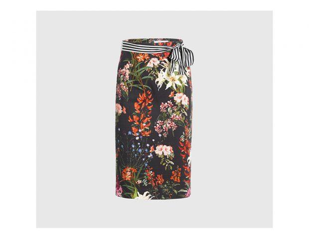 Pencil skirt floreale
