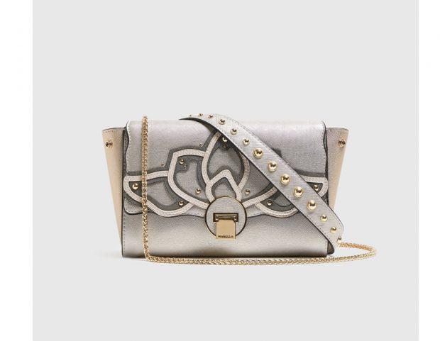 3 Times Bag silver con decorazione