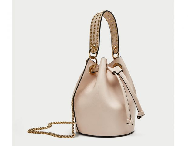 Secchiello con borchie dorate