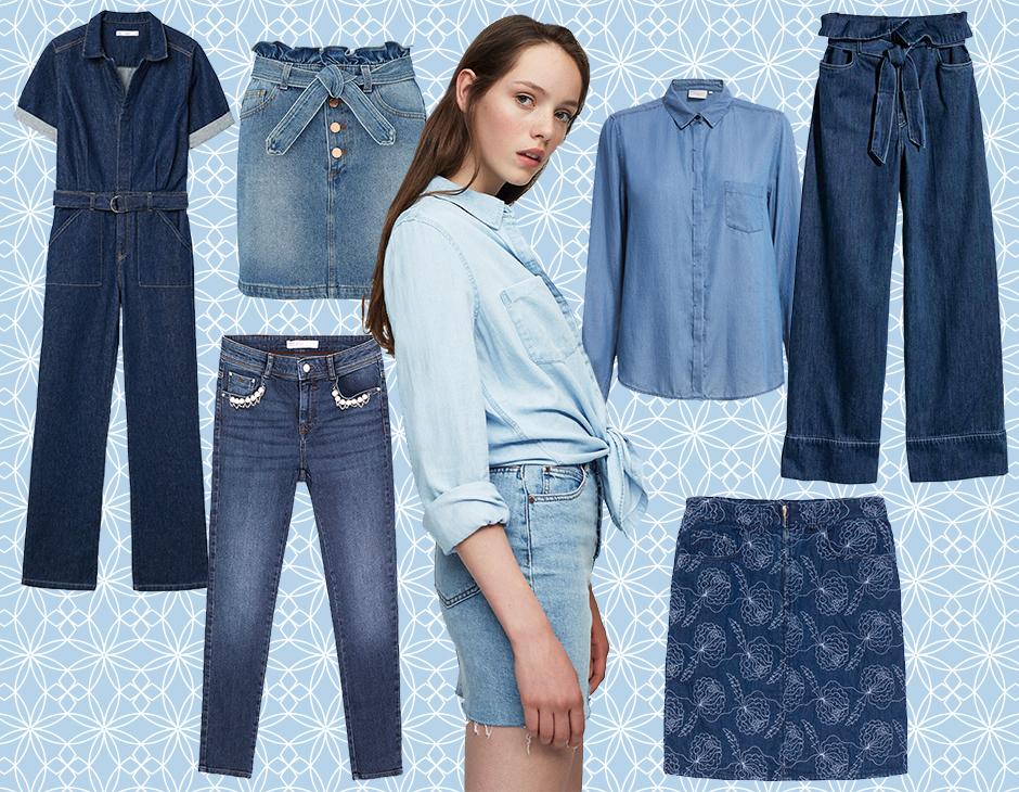 576d90ed0dddf8 Dalla jumpsuit stilosa alla classica camicia, dai jeans skinny con perline  alla minigonna con fiocco: ecco i capi in denim must have della primavera!