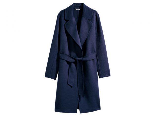 Cappotto blu a vestaglia