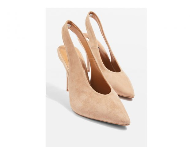 Slingback accollate in suede
