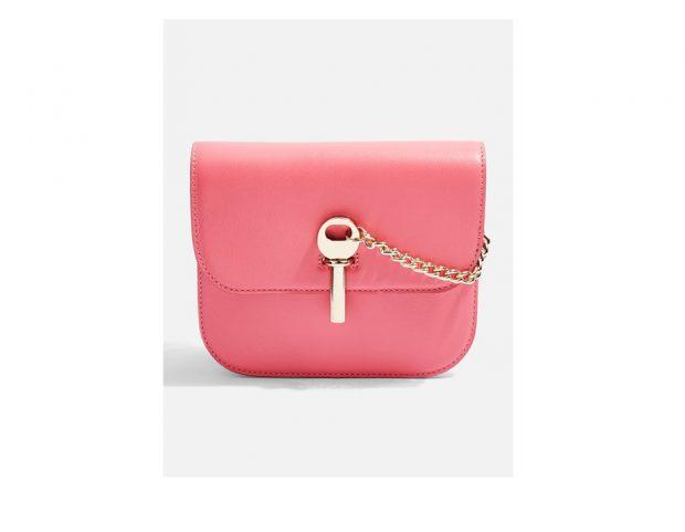 Mini bag rosa pastello con catena gold